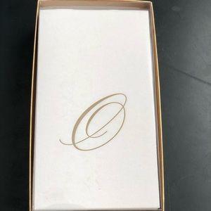 Caspari Paper Linen Napkins Initial O